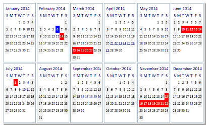 ctxYear - 64  Bit Unicode ActiveX - Multi Month Calendar Presentation Selection Control - reverse view