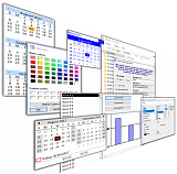 Studio Controls COM - 89 Royalty Free Appointment Scheduling, Data Presentation, UI Desight Controls