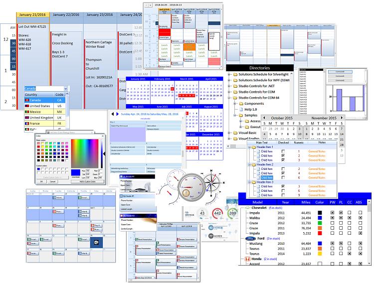 Studio Controls COM - 88 Royalty Free UI Design ActiveX COM Controls