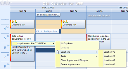 DBI Calendar WPF - 3 Schedule controls in one - Appointment | Day View | Calendar | Month