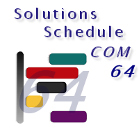 Solutions Schedule COM 64 - 64 bit ActiveX Scheduling Control, Drag Drop Gantt Scheduling planning - by DBI Technilogies