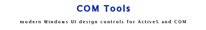 COM Tools - 9 modern Windows UI design controls for Visual Basic, FoxPro, Access, LabVIEW and other OLE compliant IDE's