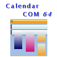 Calendar COM 64 - 32 bit and 64 bit Outlook Style Scheduling Controls