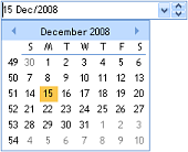 ctDropDate - ActiveX  COM  Drop down date selection control - by DBI Technologies Inc. - found in Studio Controls COM