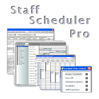 Staff Scheduler Pro - Commercial Multi Resource Planning and Scheduling Program with Free VB source code option - DBI Technologies Inc.