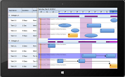 Solutions Schedule for Silverlight - Royalty Free Drag and Drop Gantt style ERP Schedule control