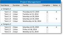 DBI Technologies Inc. - Solutions Schedule .NET v6 - List view - Tree view area