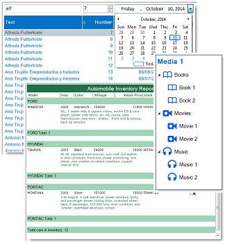 dbi list view - list and tree view control - studio controls .net