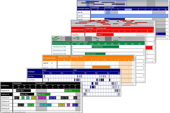 Solutions Schedule for COM - Gantt ActiveX / ocx Drag and Drop Multi Resource Planning - Scheduling control
