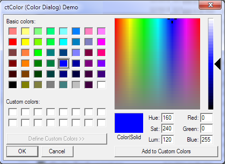 ActiveX  COM Color Picker Control - by DBI Technologies Inc. - found in Studio Controls COM