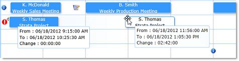 Solutions Schedule for WPF Drag and Drop Resource Management